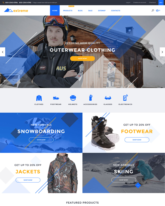 Extreme sports fitness shopify themes
