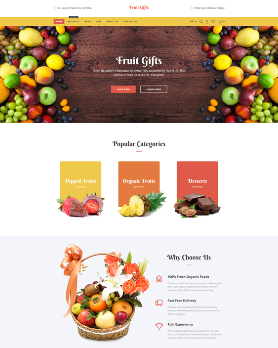 Fruit Gifts responsive shopify themes