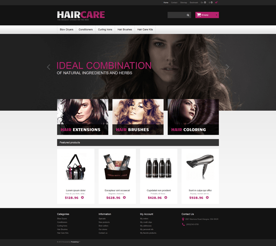 ideal hair products prestashop themes