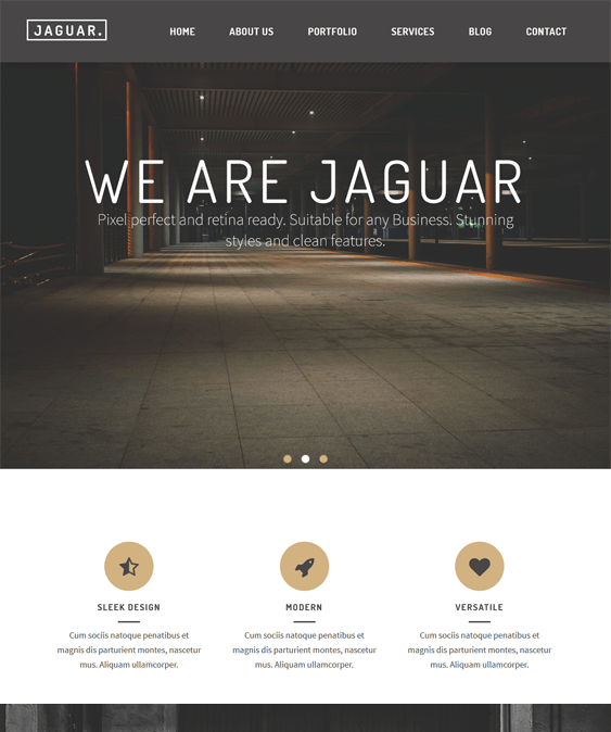jaguar one page wordpress themes