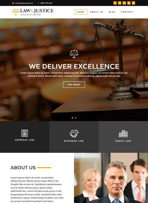 law justice lawyer wordpress themes
