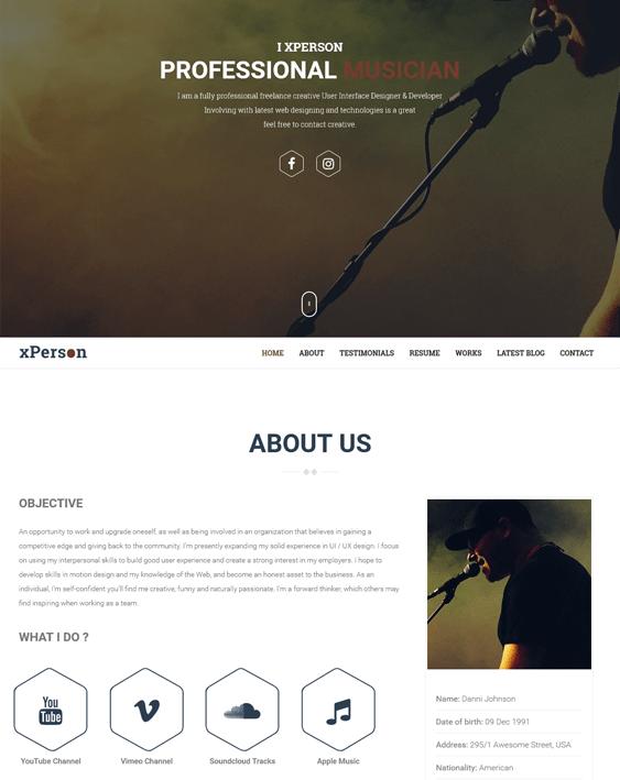 xperson music wordpress themes