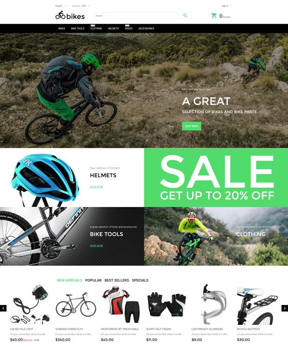 bikes prestashop themes sports stores