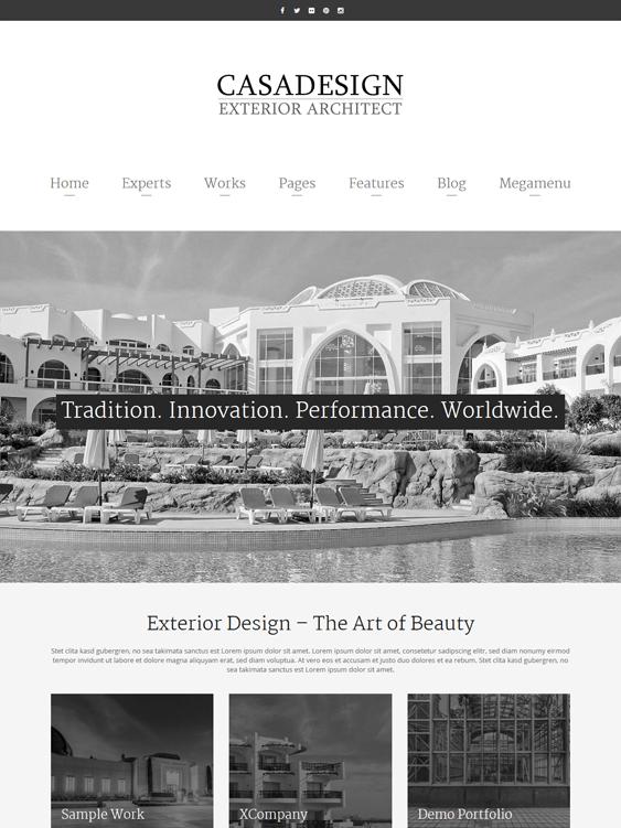 casadesign architect architecture firms wordpress themes