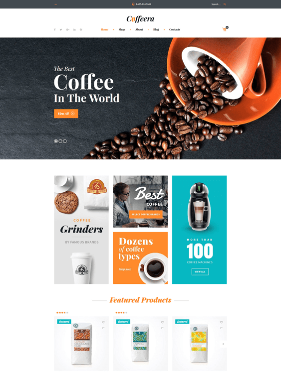 coffee food drink woocommerce themes