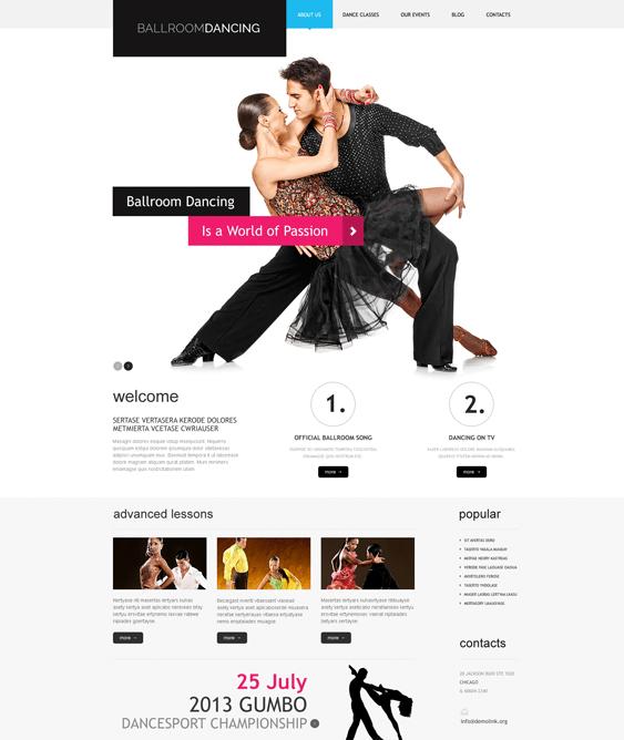 wordpress themes dance studios schools