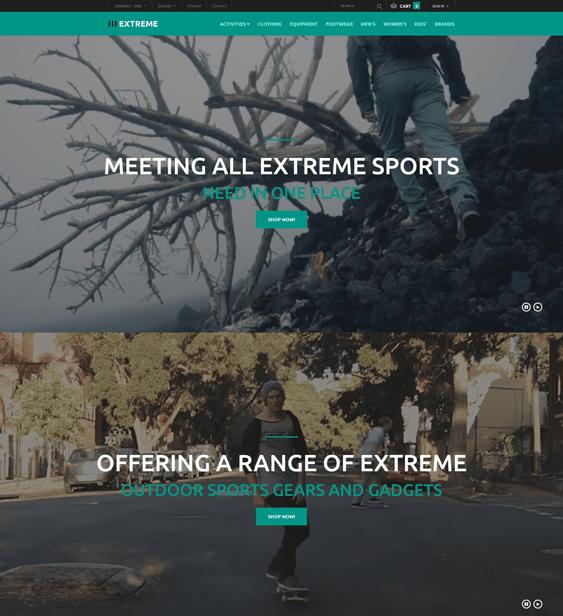 extreme prestashop themes sports stores