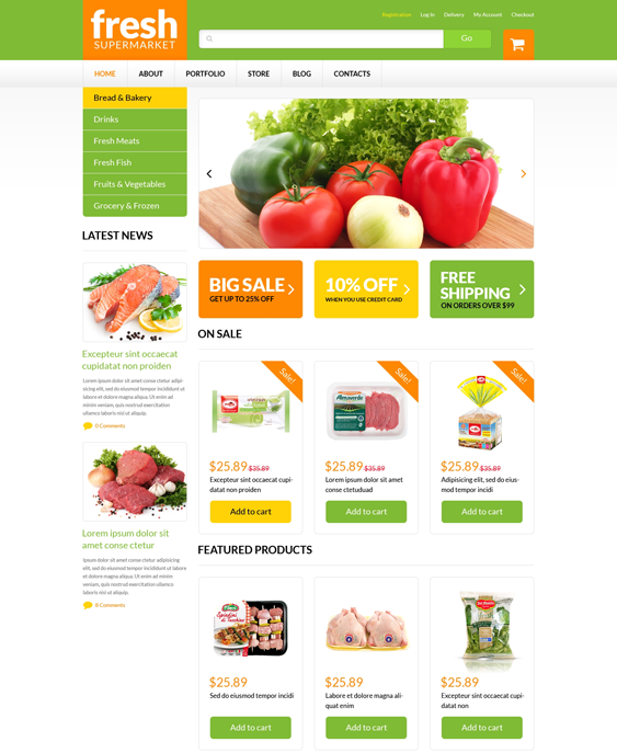 grocery food drink woocommerce themes