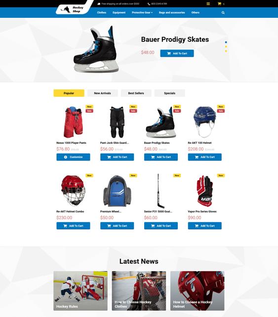 hockey prestashop themes sports stores