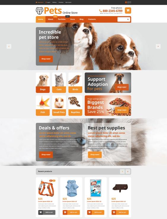 pets woocommerce themes
