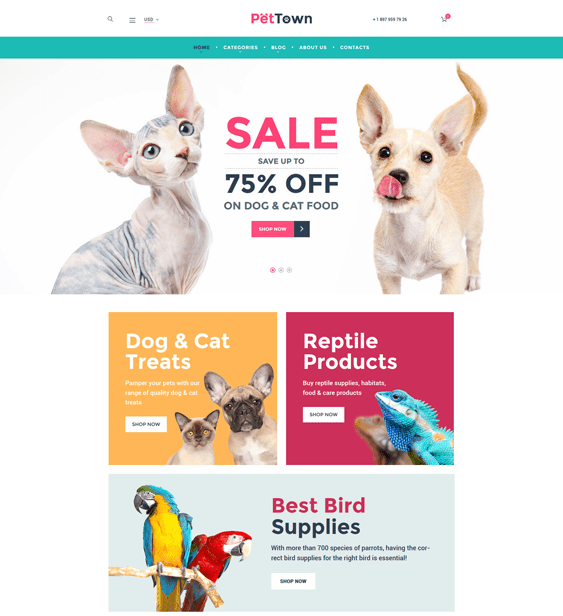 pet woocommerce themes town