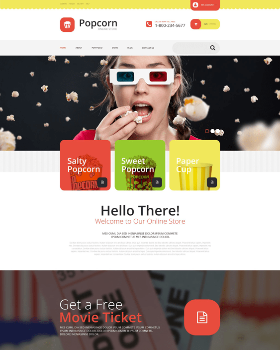 popcorn food drink woocommerce themes