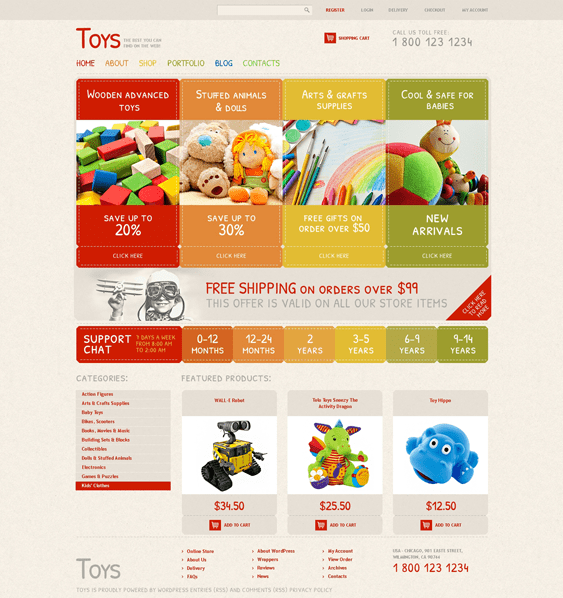 safe kids babies children woocommerce themes