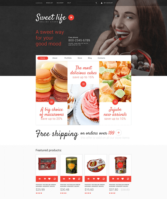 sweet food drink woocommerce themes