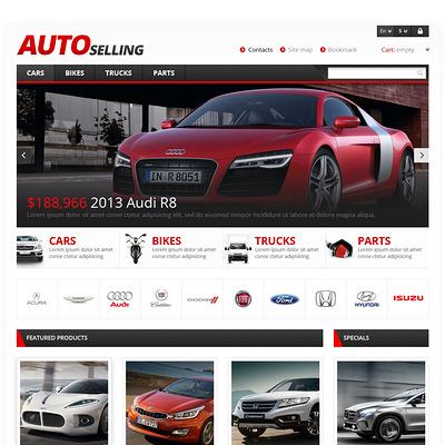 Auto Sale PrestaShop Theme (PrestaShop theme for car, vehicle, and automotive stores) Item Picture