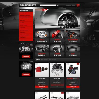 Automobile Replacement Parts PrestaShop Theme (PrestaShop theme for car, vehicle, and automotive stores) Item Picture