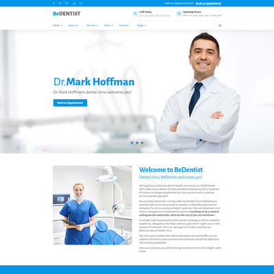 BeDentist Website Template (Bootstrap website template for dentists and dental clinics) Item Picture