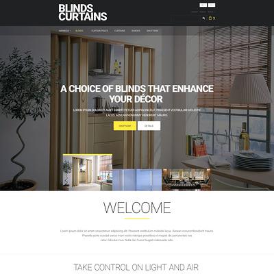 Blinds and Curtains PrestaShop Theme (PrestaShop theme for interior design and home decor) Item Picture