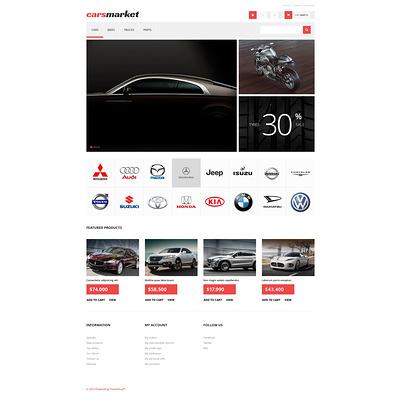 Cars Market PrestaShop Theme (PrestaShop theme for car, vehicle, and automotive stores) Item Picture