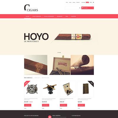Cigars PrestaShop Theme (PrestaShop theme for tobacco, cigar, and e-cigarette stores) Item Picture