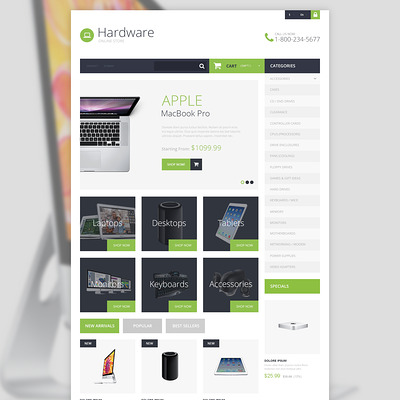 Hardware Provider Company PrestaShop Theme (PrestaShop theme for selling computers and accessories) Item Picture