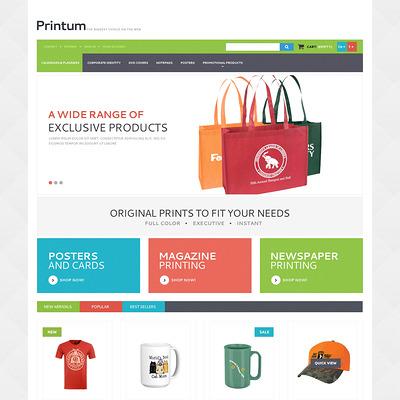 Harmonious Print Store PrestaShop Theme (PrestaShop theme for print stores) Item Picture
