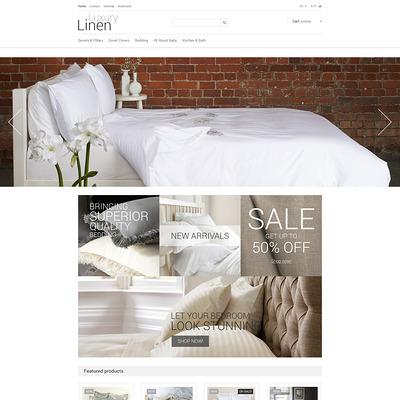 Luxury Linen Store PrestaShop Theme (PrestaShop theme for interior design and home decor) Item Picture