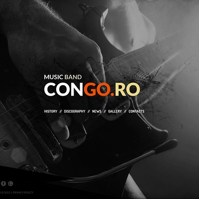 Music Band Website Template (Bootstrap template for music websites) Item Picture