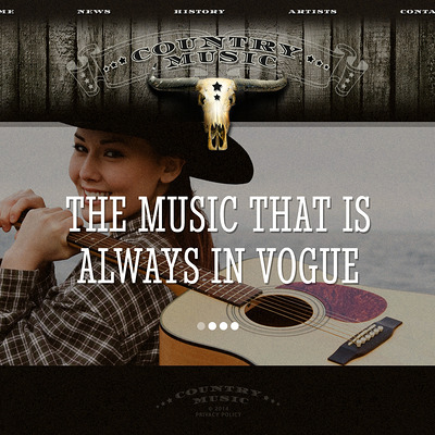 Music Website Template (Bootstrap template for music websites) Item Picture