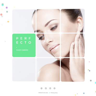 Perfecto (Bootstrap website template for plastic surgeons) Item Picture