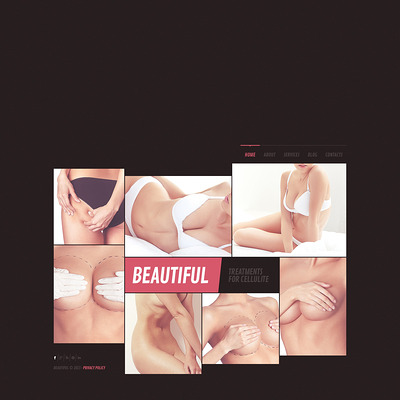 Plastic Surgery Website Template (Bootstrap website template for plastic surgeons) Item Picture