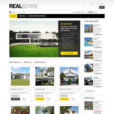 Real Estate Business PrestaShop Theme (real estate PrestaShop theme) Item Picture