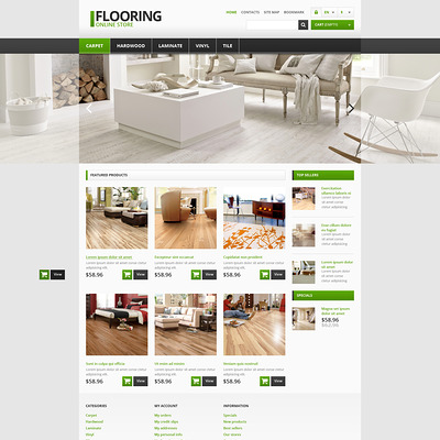 Responsive Flooring Store PrestaShop Theme (PrestaShop theme for flooring stores) Item Picture