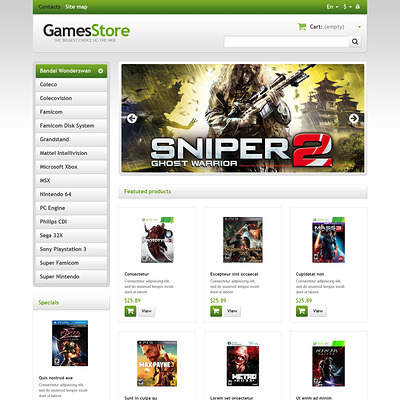 Responsive Games Store PrestaShop Theme (PrestaShop theme for video game stores) Item Picture