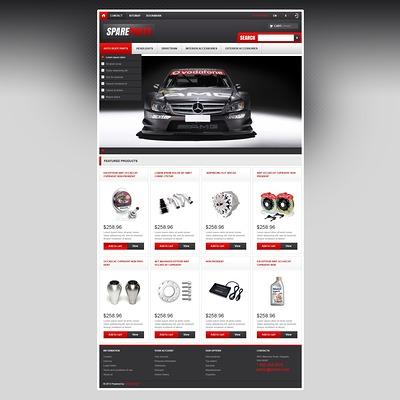 Responsive Spare Parts Store PrestaShop Theme (PrestaShop theme for car, vehicle, and automotive stores) Item Picture