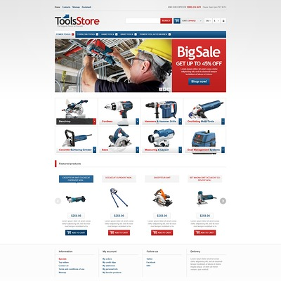 Responsive Tools Store PrestaShop Theme (PrestaShop theme for selling tools) Item Picture