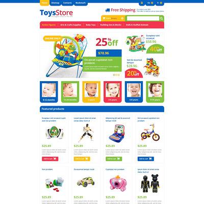 Responsive Toys Store PrestaShop Theme (PrestaShop theme for toy stores) Item Picture