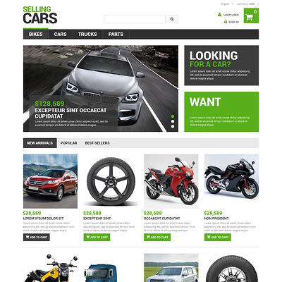 Selling Cars PrestaShop Theme (PrestaShop theme for car, vehicle, and automotive stores) Item Picture