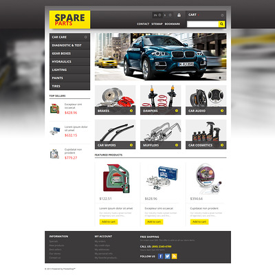 Spares for Any Car PrestaShop Theme (PrestaShop theme for car, vehicle, and automotive stores) Item Picture