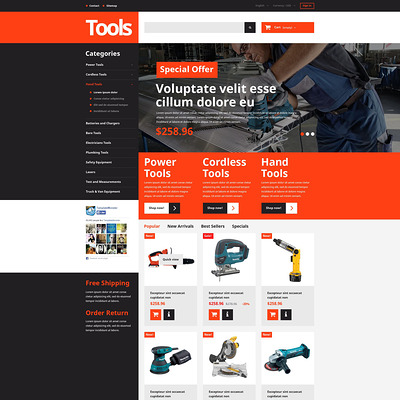 Tools and Supplies PrestaShop Theme (PrestaShop theme for selling tools) Item Picture