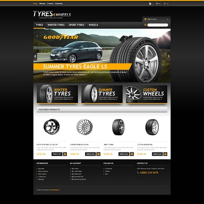 Tyres & Wheels Store PrestaShop Theme (PrestaShop theme for car, vehicle, and automotive stores) Item Picture