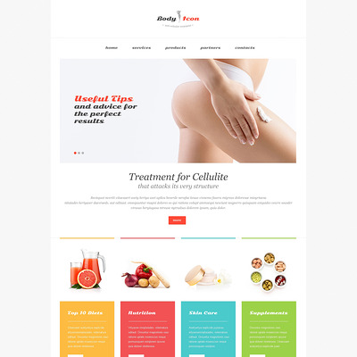 Weight Loss Responsive Website Template (medical Bootstrap website template) Item Picture