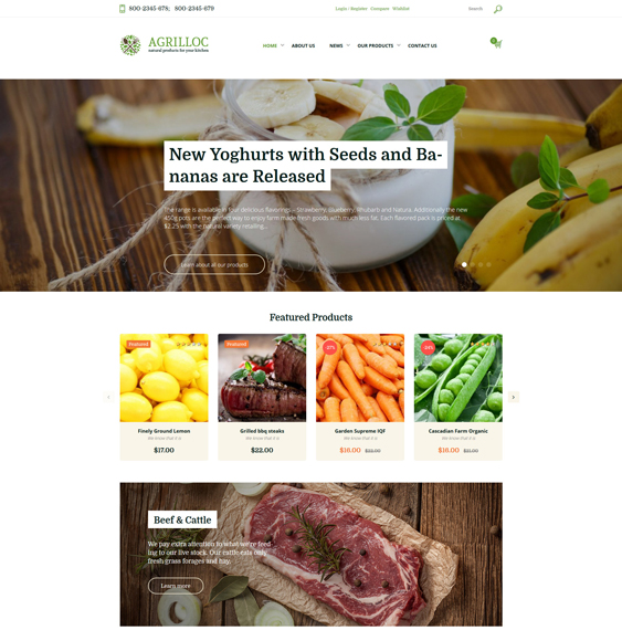 agrilloc farm agriculture websites wordpress themes