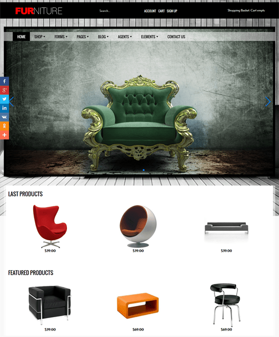 furniture virtuemart joomla templates