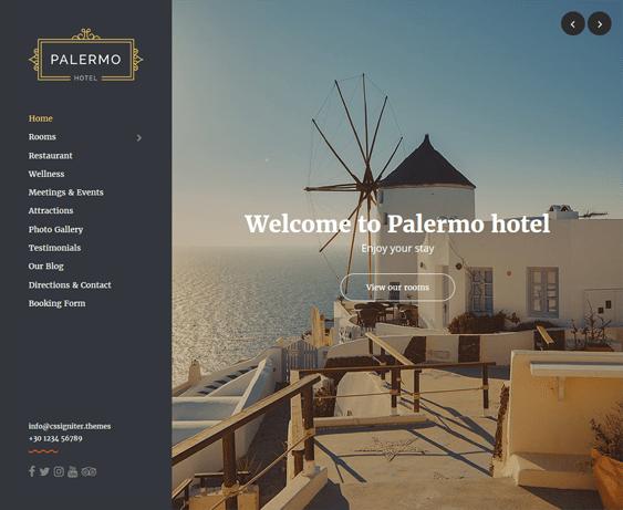palermo hotel wordpress themes