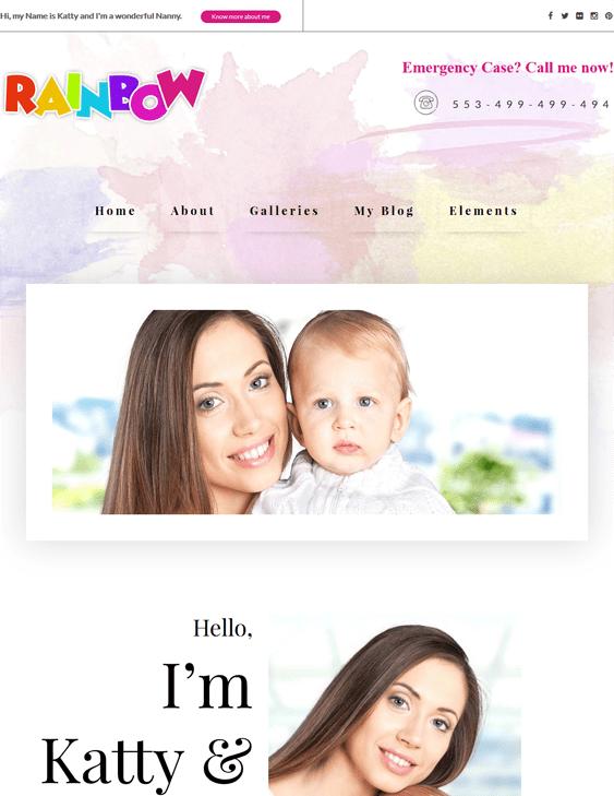 rainbow kids wordpress themes