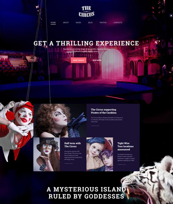 The Circus dark joomla templates