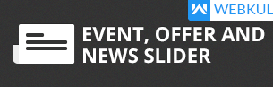 event offer news slider shopify apps plugins
