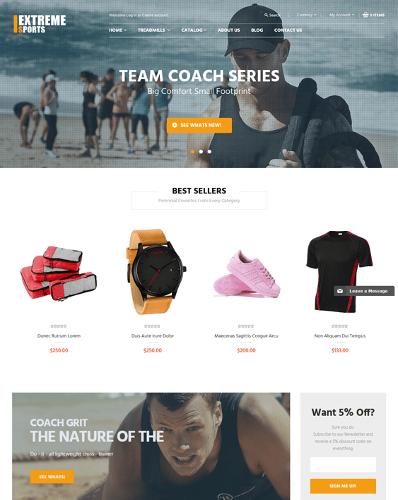 extremely sports fitness shopify themes