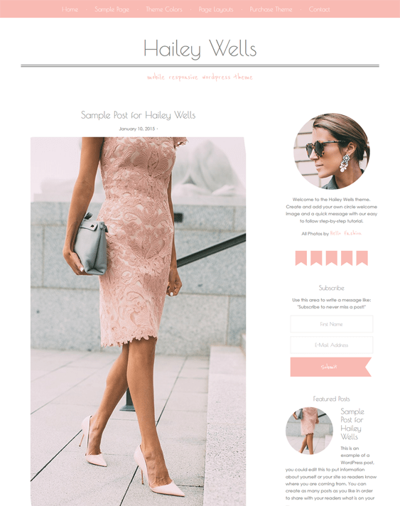 hailey feminine wordpress themes